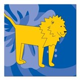 "Lion Square Car Magnet 3"" x 3"""