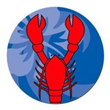 Lobster Round Car Magnet
