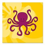 "Octopus Square Car Magnet 3"" x 3"""