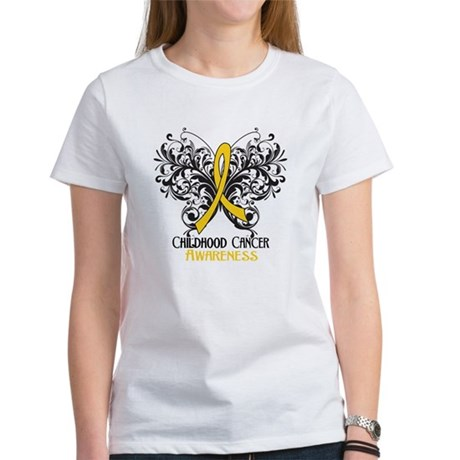 Butterfly Childhood Cancer Women's T-Shirt