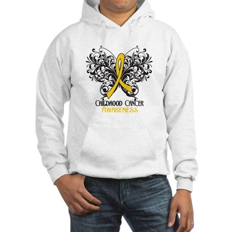 Butterfly Childhood Cancer Hooded Sweatshirt