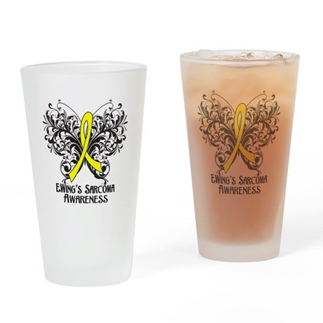Butterfly Ewing Sarcoma Drinking Glass