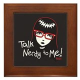 Talk Nerdy to Me Emily Framed Tile