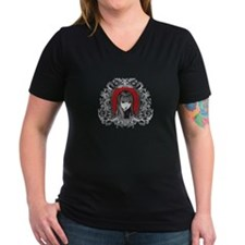 Strange Crest Women's V-Neck Dark T-Shirt