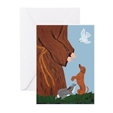Dachshund And St. Francis Greeting Cards (Pk of 10