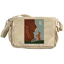 Dachshund And St. Francis Messenger Bag
