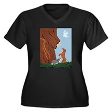 Dachshund And St. Francis Women's Plus Size V-Neck