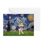 Starry-AussieTerrier2 Greeting Cards (Pk of 10)