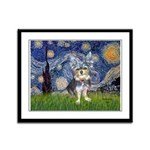 Starry-AussieTerrier2 Framed Panel Print