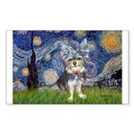 Starry-AussieTerrier2 Sticker (Rectangle)