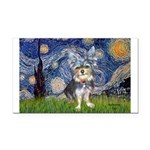 Starry-AussieTerrier2 Rectangle Car Magnet