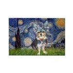 Starry-AussieTerrier2 Rectangle Magnet