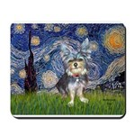 Starry-AussieTerrier2 Mousepad