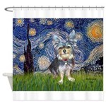 Starry-AussieTerrier2 Shower Curtain