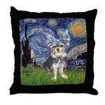 Starry-AussieTerrier2 Throw Pillow