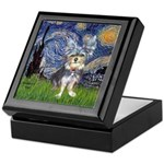 Starry-AussieTerrier2 Keepsake Box