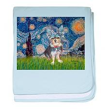Starry-AussieTerrier2 baby blanket
