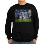 Starry-AussieTerrier2 Sweatshirt (dark)
