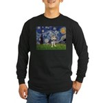 Starry-AussieTerrier2 Long Sleeve Dark T-Shirt