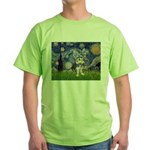 Starry-AussieTerrier2 Green T-Shirt