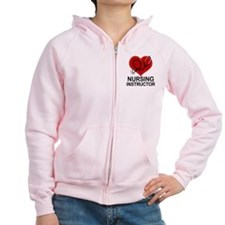 Nursing Instructor Heart Zip Hoodie
