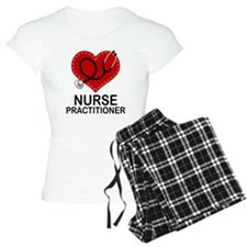 Nurse Practitioner Heart Pajamas