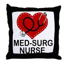 Med-Surg Nurse Heart Throw Pillow