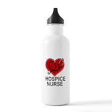 Hospice Nurse Heart Water Bottle