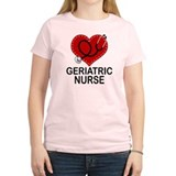 Geriatric Nurse Heart T-Shirt