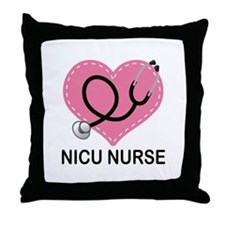 NICU Nurse Heart Throw Pillow