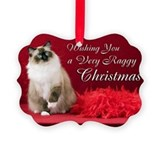 Ragdoll Cat Christmas Picture Ornament
