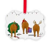 Irish Terrier Christmas Picture Ornament