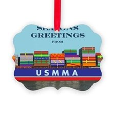 Gift Ship Ornament