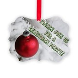 Red Bulb Christmas Party invitations (Pk of 20)