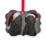 Flat-Coat Christmas Ornament
