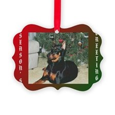 Doberman Festive Ornament