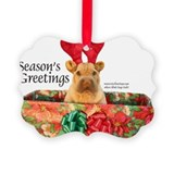 Chinese Sharpei Christmas Picture Ornament