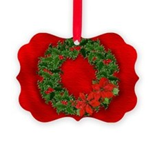 Christmas Holly Wreath Ornament