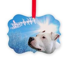 Unique Pit bull Ornament