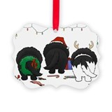 Newfie Butt Xmas Picture Ornament