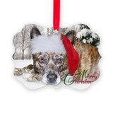 Christmas Brindle Mountain Cur Ornament