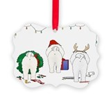 Bichon Frise Christmas Picture Ornament