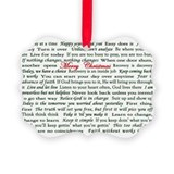 Merry Christmas Slogan Card Ornament