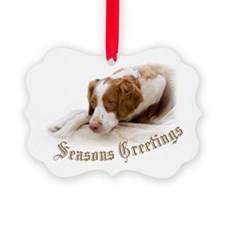 Cute Brittany spaniel Ornament