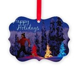 Runner's Holiday Scene (Female Runner) Ornament