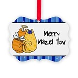 Merry Mazel Tov kitties Ornament
