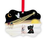 XmasDove/Westie & Scotty Ornament