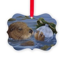 Christmas Otter Ornament