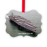 USS NIMITZ Picture Ornament