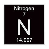 Periodic Table Nitrogen Tile Coaster